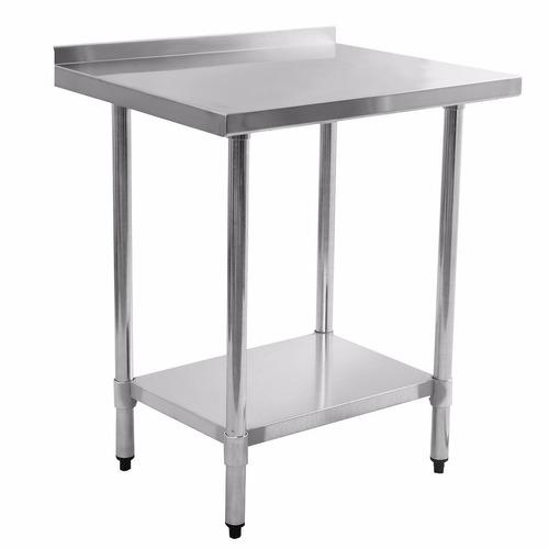 mesa de trabajo con cubierta en acero inoxidable