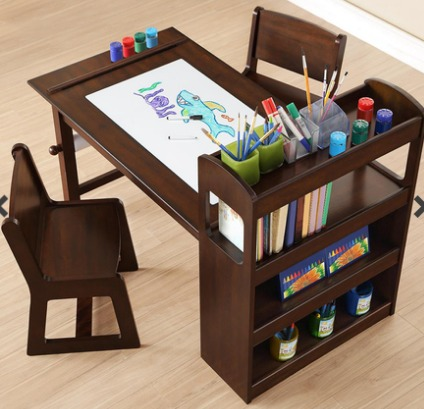 Mesa de trabajo con sillas para ni os bayside furnishings for Mesas para ninos en walmart