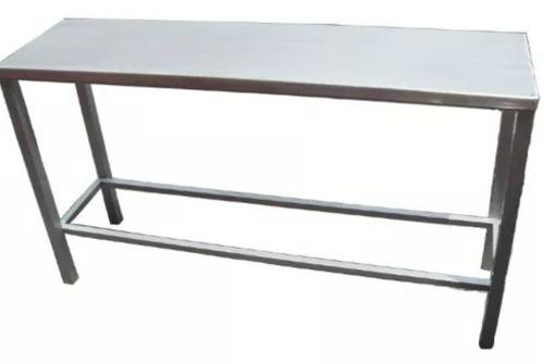 mesa de trabajo de 3 metros toda en acero inoxidable factura