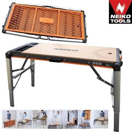 mesa de trabajo de metal con cubierta rig61159a