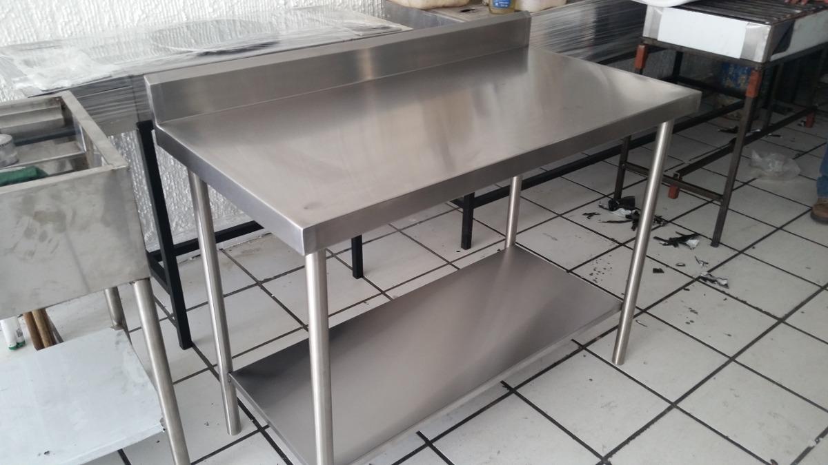 Mesa de trabajo en acero inoxidable 2 en - Figuras de acero inoxidable ...