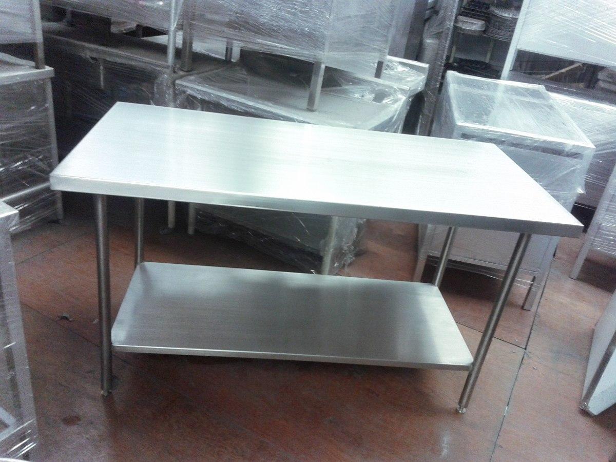 Mesa de trabajo en acero inoxidable t 304 6 en mercado libre - Mesa de trabajo acero inoxidable ...
