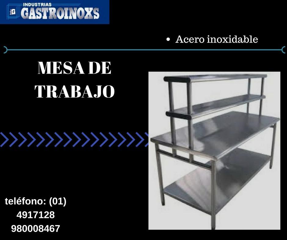 Mesa De Trabajo En Acero Para Restaurante Y Panaderias - S/ 1,00 ...