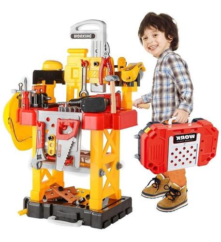 mesa de trabajo herramientas para niños transformable 83 pzs
