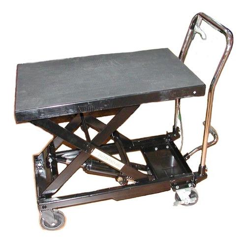 mesa de trabajo hidráulica con ruedas 300kg 51x81x91cm mh300
