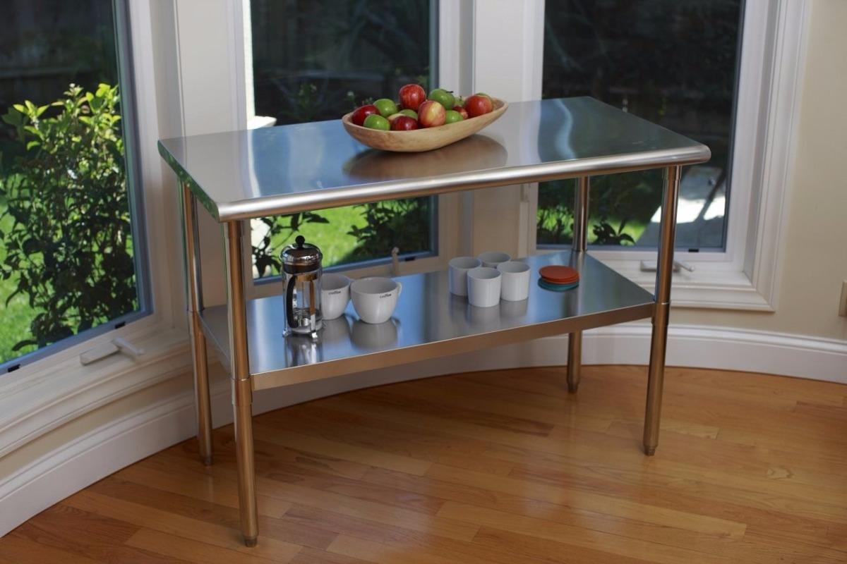 Mesa de trabajo multifuncional de acero inoxidable cocina - Mesa acero inoxidable para cocina ...
