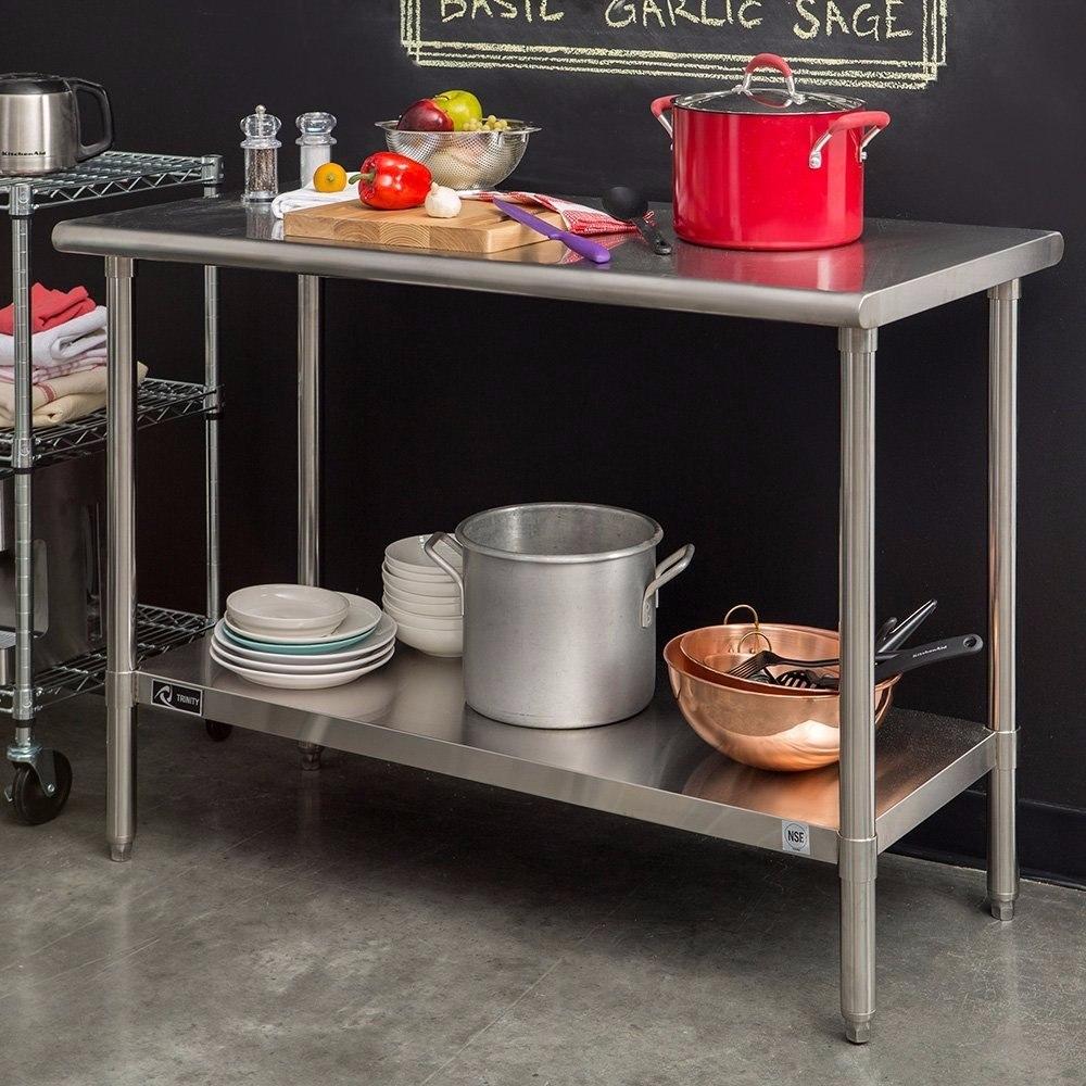 Mesa de trabajo multifuncional de acero inoxidable p - Mesa de trabajo cocina ...
