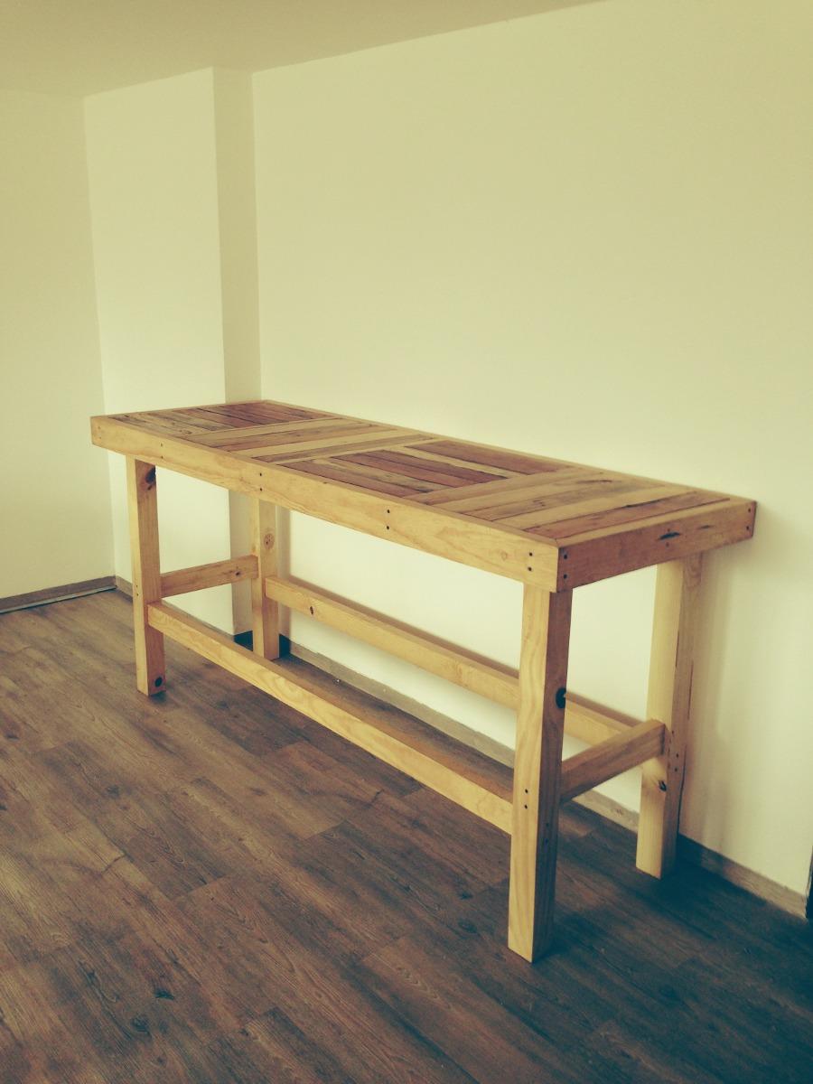 Mesa de trabajo o comedor de madera reciclada 4 - Mesa madera reciclada ...