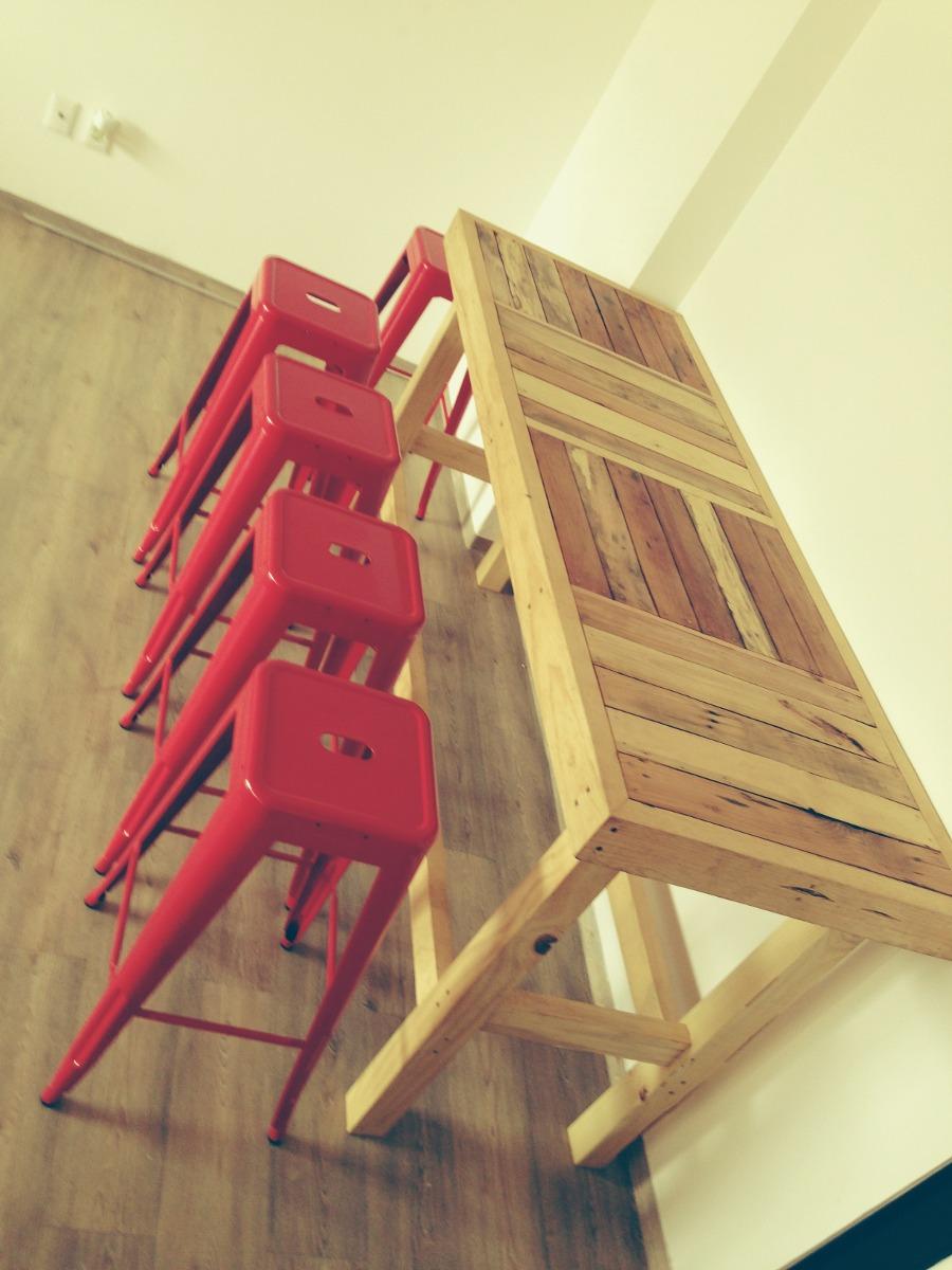 Mesa de trabajo o comedor de madera reciclada 4 for Precio mesa comedor madera
