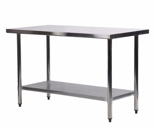 Mesa de trabajo para cocina de acero inoxidable de 24 x 48 - Mesa de trabajo cocina ...