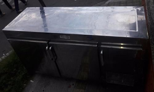 mesa de trabajo refrigerada