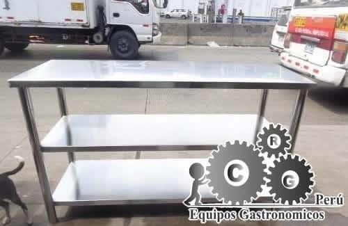mesa de trabajo ,repisa de acero 1.40x0.60 acero inoxidable