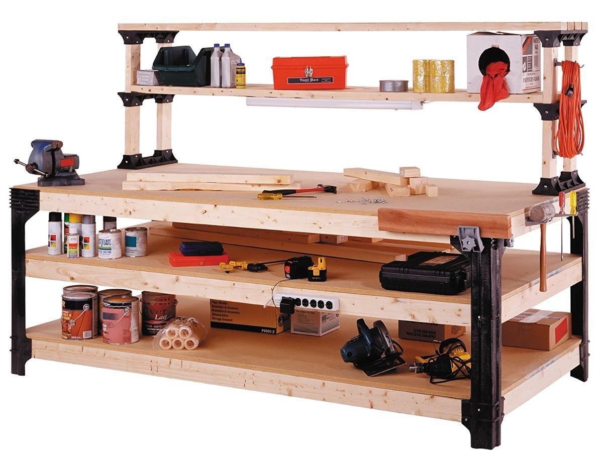 Mesa de trabajo taller de carpinteria kit enviogratis - Mesa de trabajo taller ...