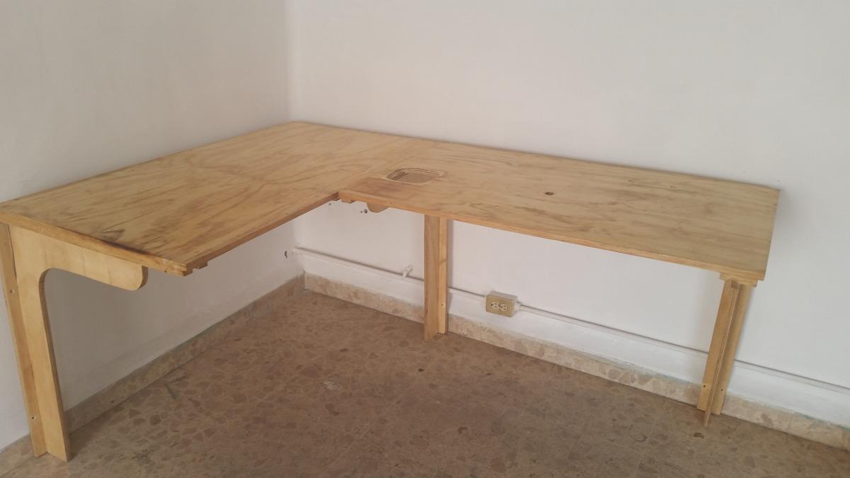 Mesa de trabajo y repisa reforzada de madera 3 - Mesas de trabajo para cocina ...