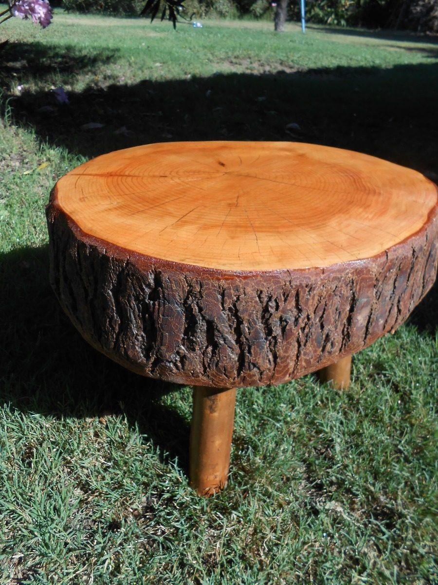 Mesa de tronco de arbol roble a isimo en for Mesas de troncos de arboles