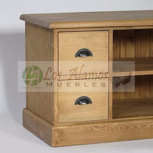 mesa de tv asia 4 cajones 1.20x0.40x0.60