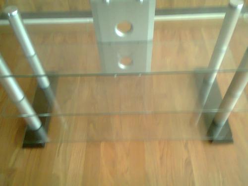 mesa de tv cristal