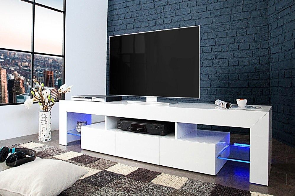 Mesa de tv dise o ultra moderno con iluminacion ref for Mesa tv diseno