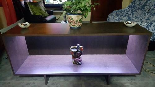 mesa de tv led melamina con luz interior led