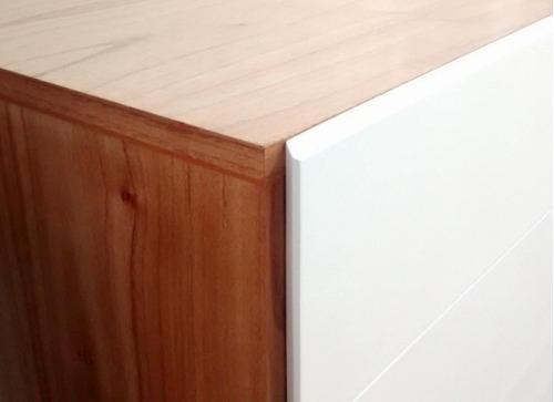 mesa de tv nordica oulu 4 cajones blancos 120