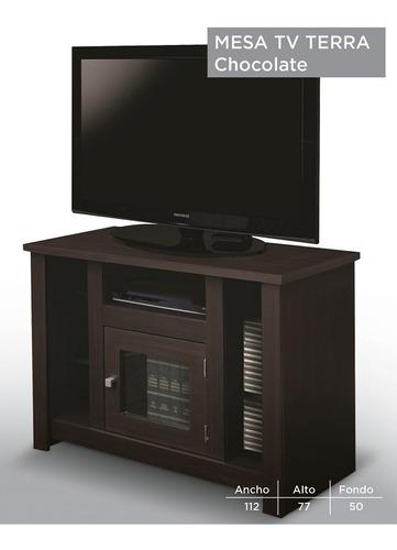 mesa de tv terra - wengue këssa muebles