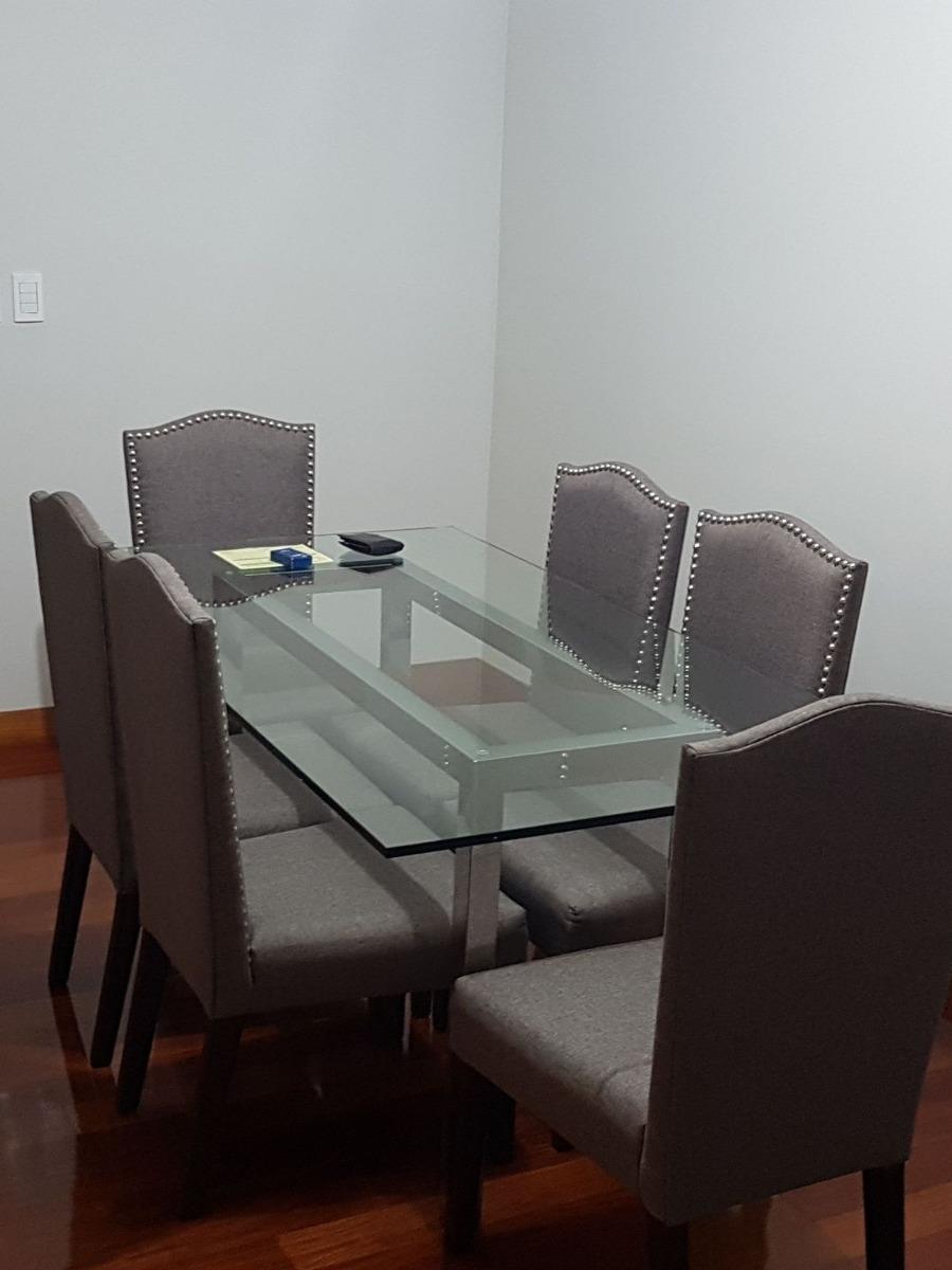 Mesa De Vidrio Para Comedor Con Soporte De Acero - S/ 2.000,00 en ...