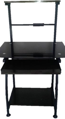 mesa de vidrio para computadora de escritorio de 3 niveles