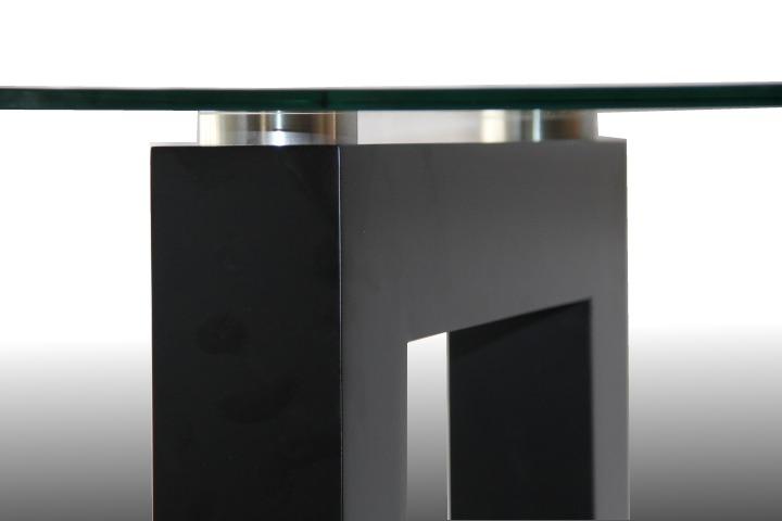 Mesa De Vidrio Y Madera Diseño Unico - $ 16.700,00 en Mercado Libre