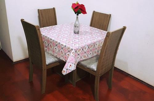 mesa de vidro 4 cadeira        retira no local