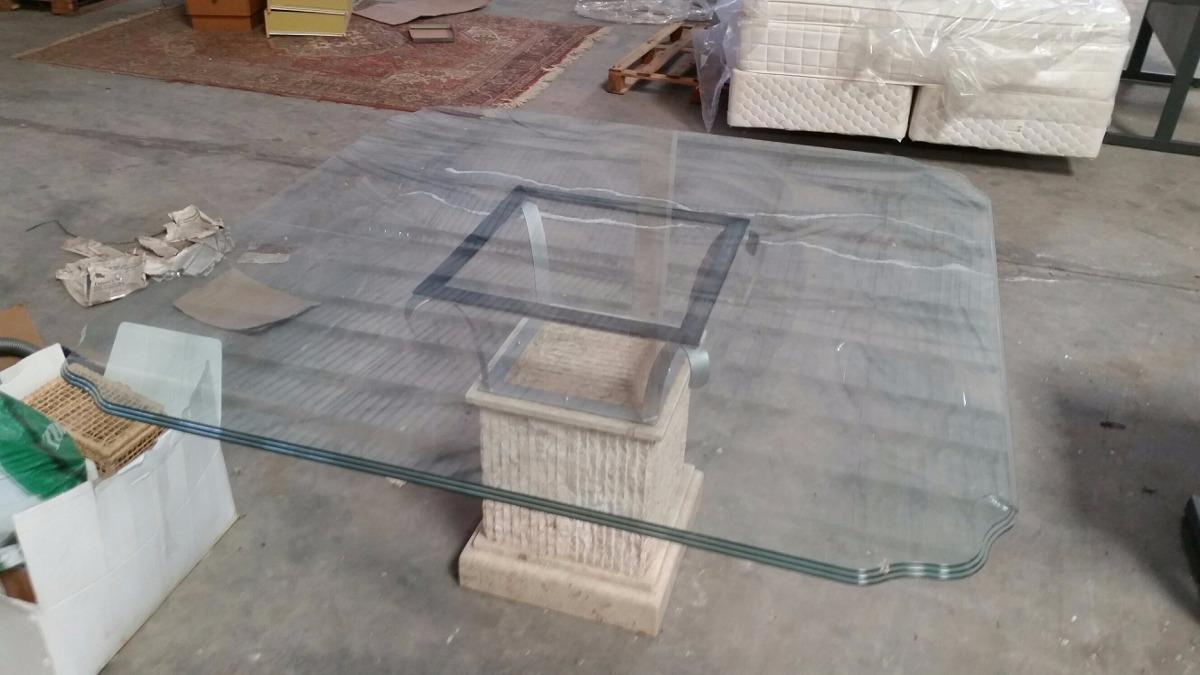 Mesa De Vidro C P De M Rmore R 850 00 Em Mercado Livre -> Sala De Jantar Pequena Com Mesa De Marmore