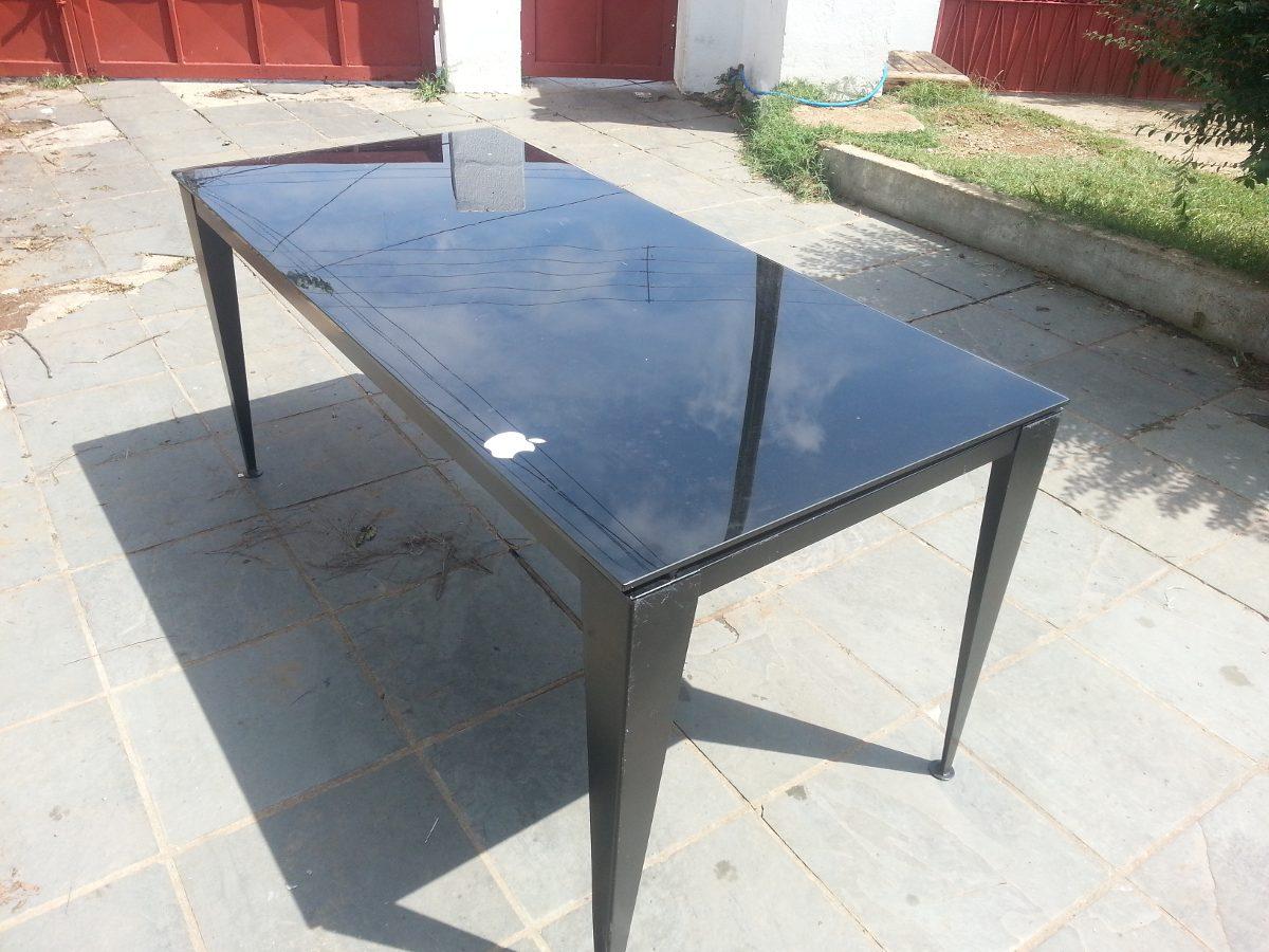 Mesa De Vidro Tok Stok Design Toleman R$ 450 00 em Mercado Livre #8B4C40 1200x900