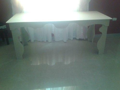 mesa decoración dulces pasapalos candy bar 180x80x70cm