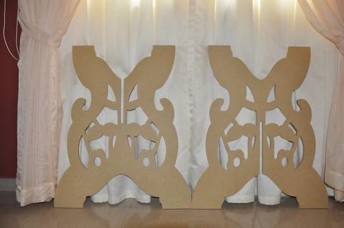 mesa decoración fantasia dulces pasapalos mdf crudo