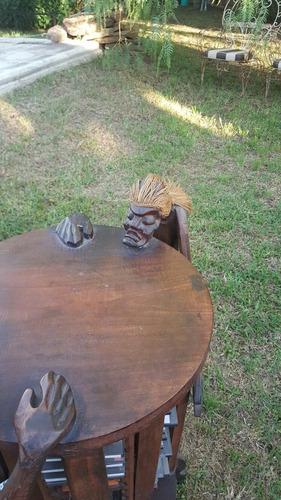 mesa decoración indios porta cd giratorio