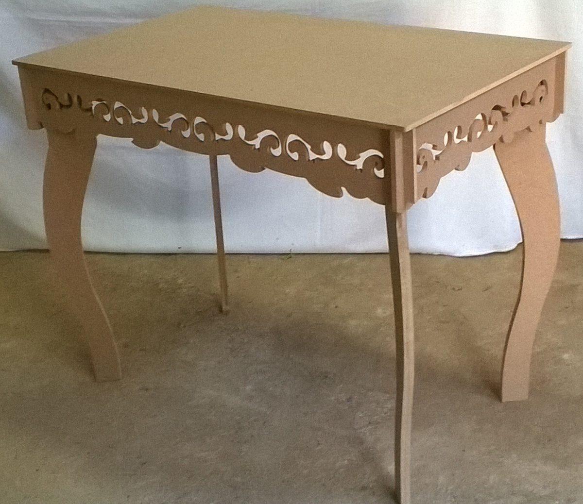 Mesa decora o festa proven al arabescos pernas curvas mdf - Mesa resina infantil ...