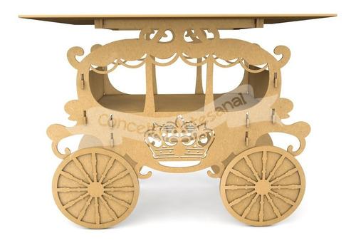 mesa decorar festa mdf realeza carruagem rei rainha princesa
