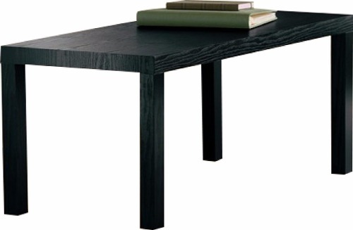 Mesa decorativa de centro color negra madera clara y - Mesa centro negra ...