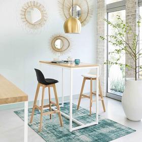 Mesa Decorativa, Desayunador Hierro Y Madera Finger Joint !!