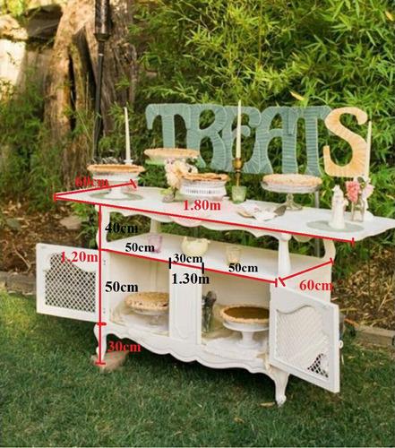 mesa decorativa para eventos, matrimonios, fiestas