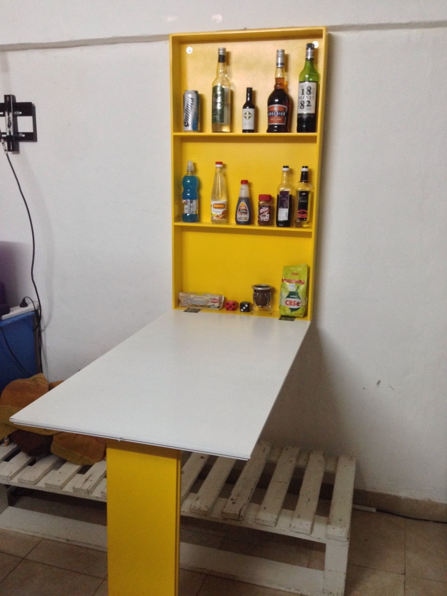 mesa de comedor plegable a la pared