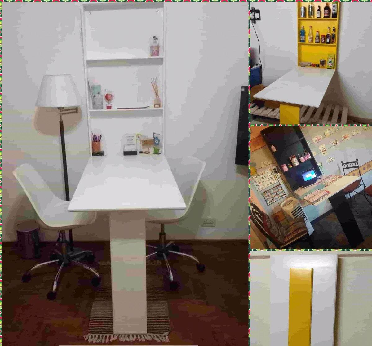 Mesa Plegable Pared Hogar Muebles Y Jard N En Mercado Libre  ~ Mesa De Cocina Plegable Tipo Libro