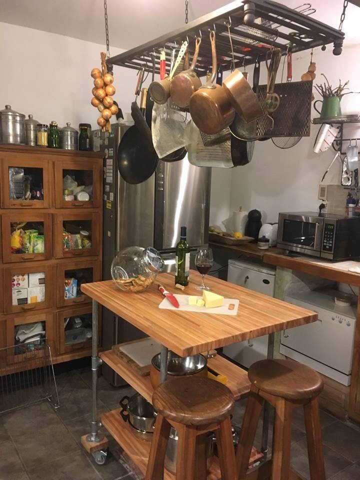 Mesa desayunador isla de cocina con o sin ruedas artesanos for Isla cocina con ruedas