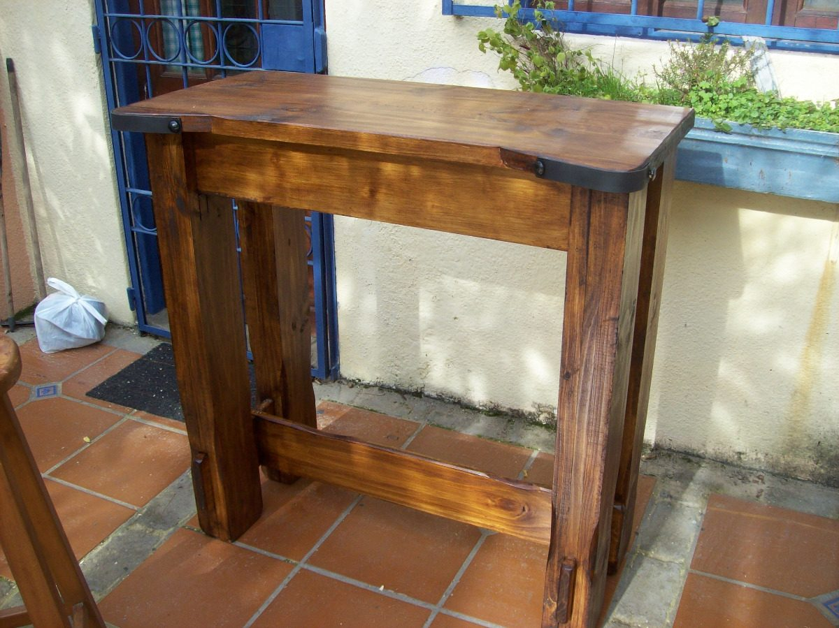 Mesa madera maciza rustica mesa centro estilo rstico - Mesa madera rustica ...