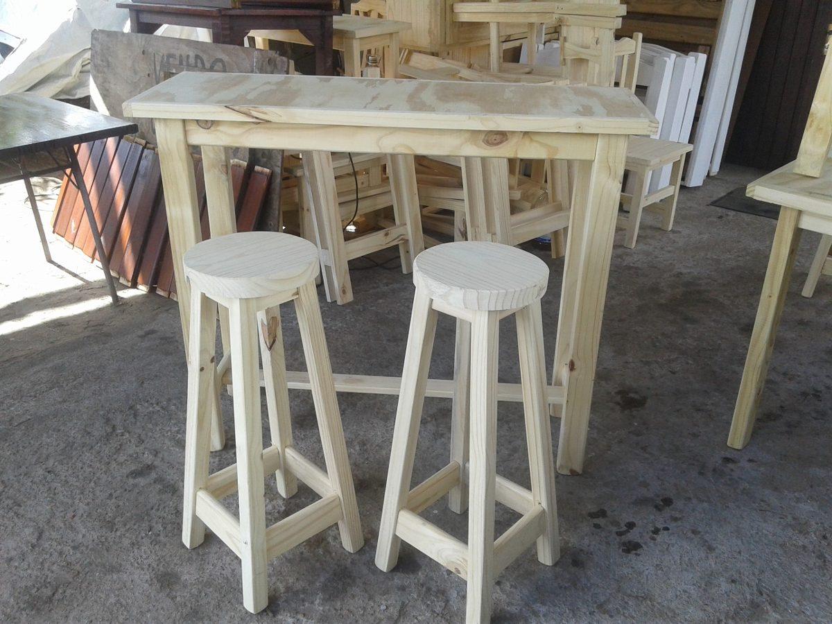 mesa desayunador pasaplatos madera bancos banquetas 1