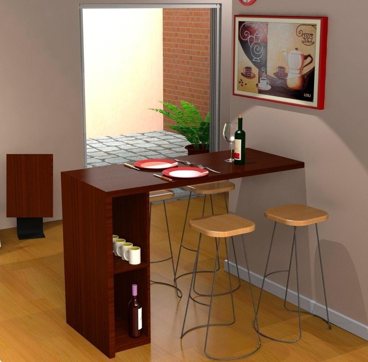Mesa desayunadora escritorio moderno para cocina oficina bs en mercado libre - Mesa barra cocina ...