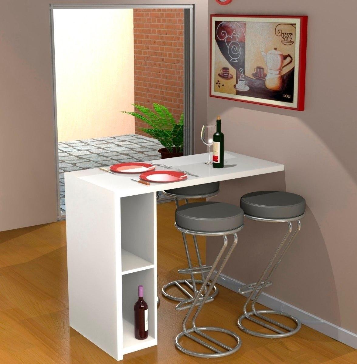Mesa desayunadora escritorio moderno para cocina oficina bs en mercado libre - Mesa pared cocina ...