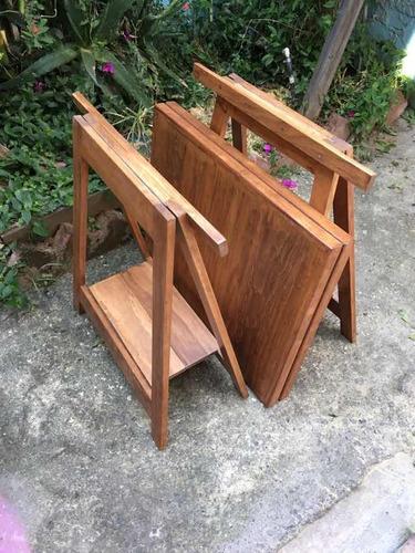 mesa desmontable de madera de pino