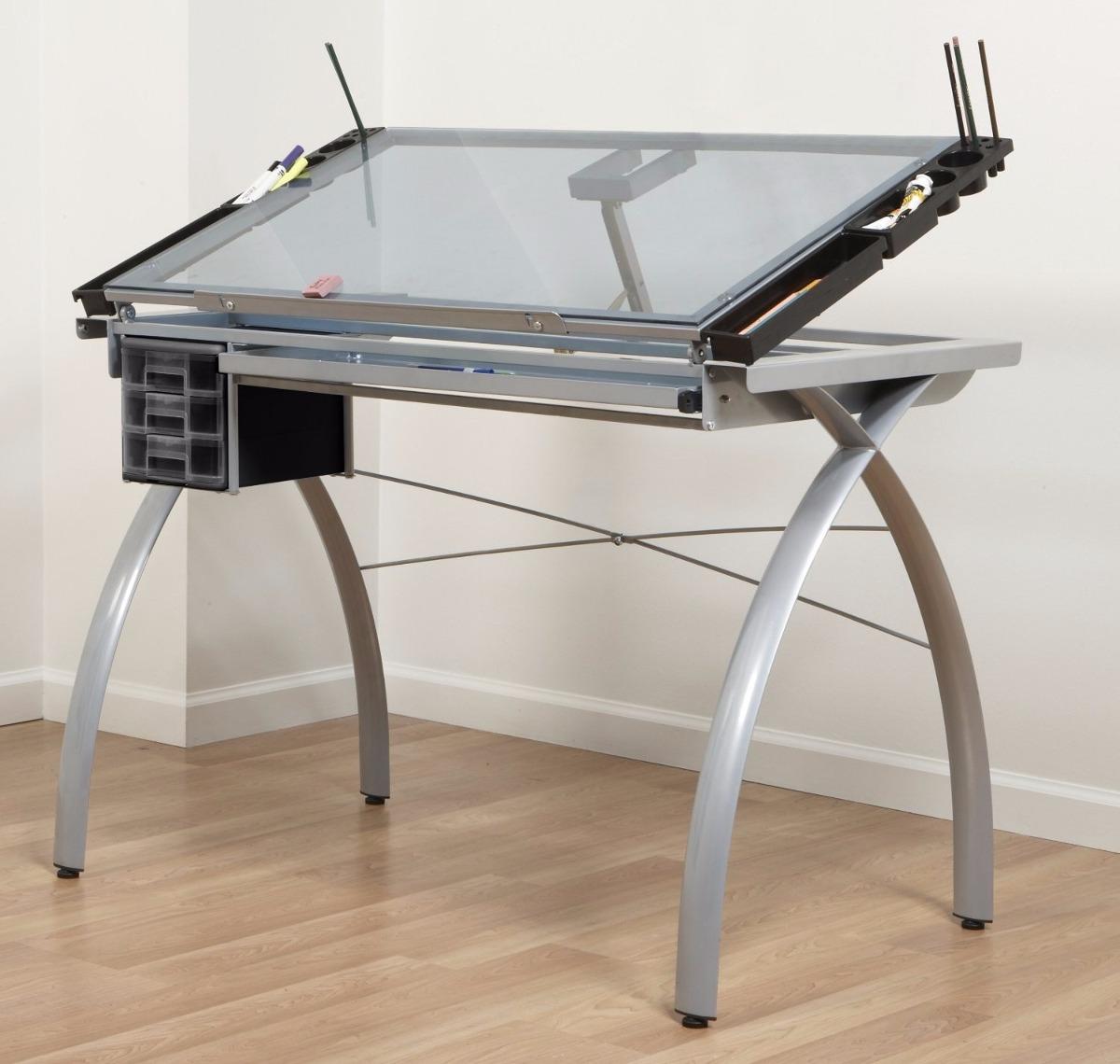 Mesa dibujo art stico escritorio cristal templado for Mesas de escritorio zaragoza
