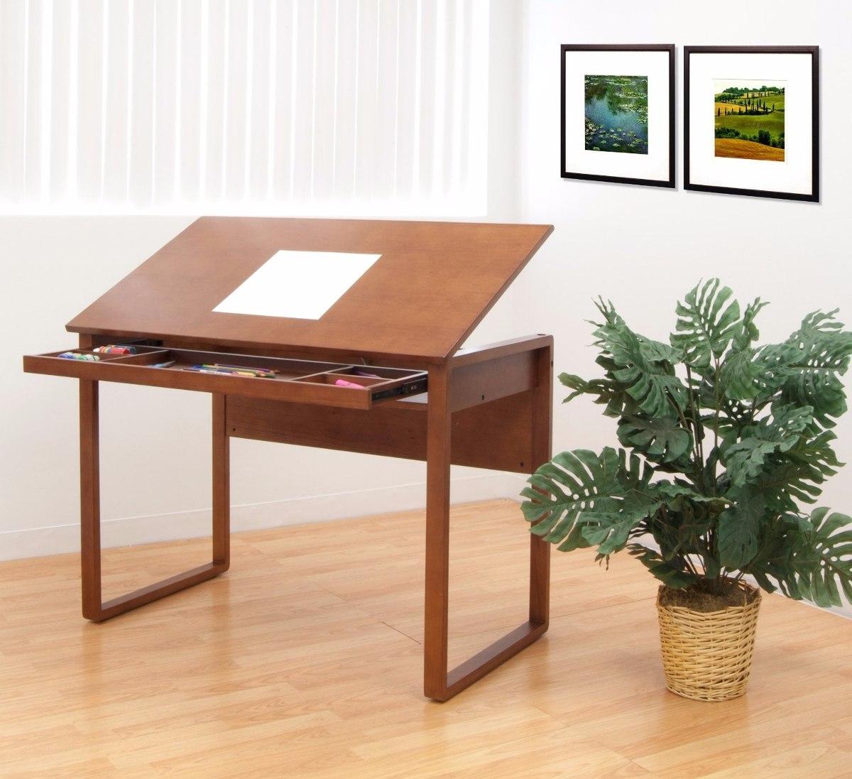 mesa dibujo escritorio restirador madera dibujante