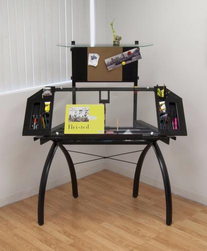 mesa dibujo escritorio restirador profesional cristal repisa